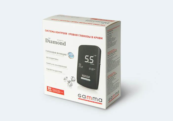 Глюкометр ТМ GAMMA DIAMOND